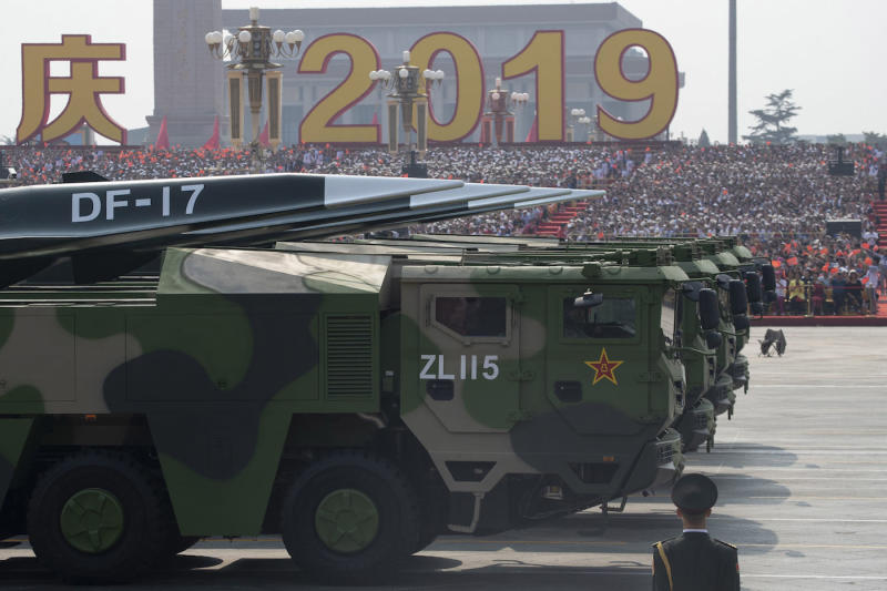 The DF-17 nuclear missile is reportedly capable of breaching anti-missile shields (Picture: AP)