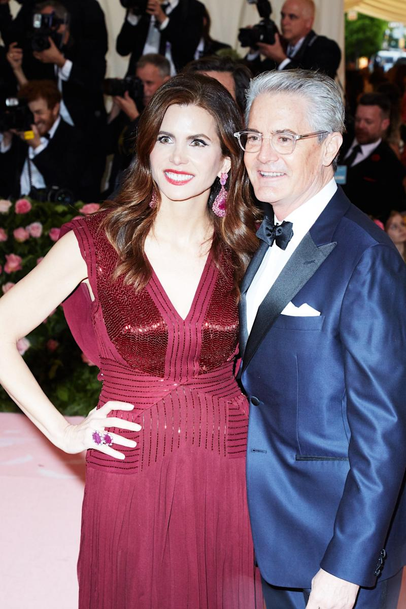 Desiree Gruber and Kyle MacLachlan on the red carpet at the Met Gala in New York City on Monday, May 6th, 2019. Photograph by Amy Lombard for W Magazine.