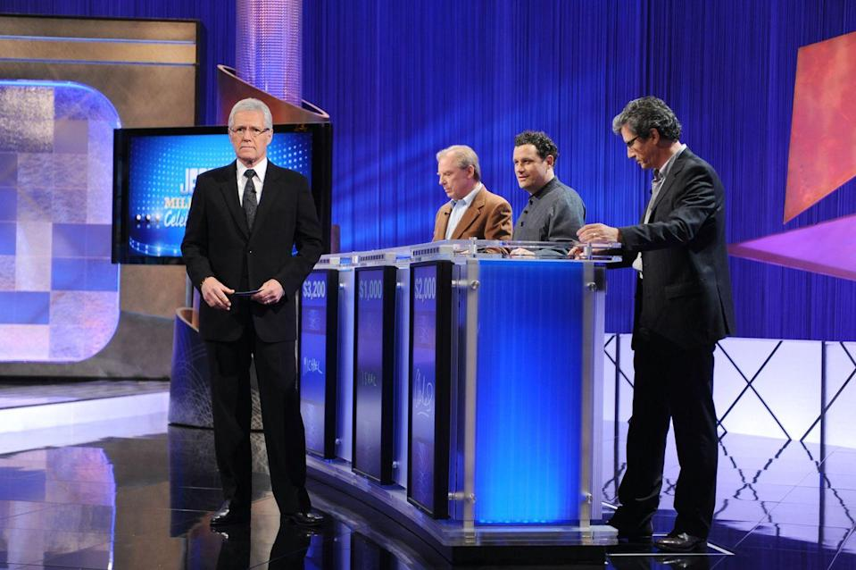 """<p>Contestants watch the show from a separate section in the live audience and don't know <a href=""""https://better.net/arts-events/movies-tv/jeopardy-heres-actually-happens-behind-scenes/"""" rel=""""nofollow noopener"""" target=""""_blank"""" data-ylk=""""slk:when it's their turn to play"""" class=""""link rapid-noclick-resp"""">when it's their turn to play</a> until their name is called.</p>"""