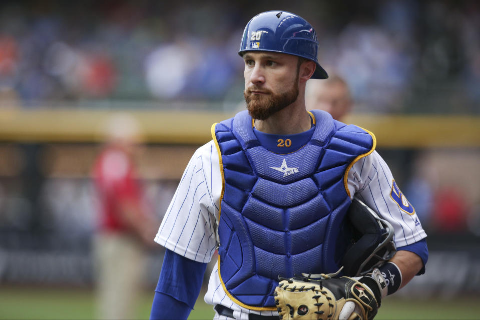 Jonathan Lucroy had a strong peak with the Brewers. (Photo by John Konstantaras/Getty Images)