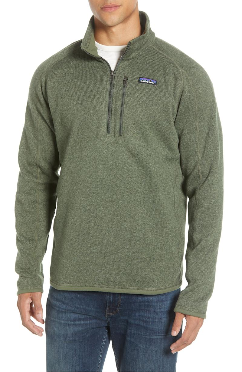 Patagonia Better Sweater Quarter Zip Pullover. Image via Nordstrom.