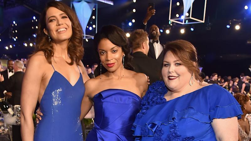 Mandy Moore Says Matching Blue Dresses With 'This Is Us' Co-Stars at SAG Awards Was (Somehow) Not Planned