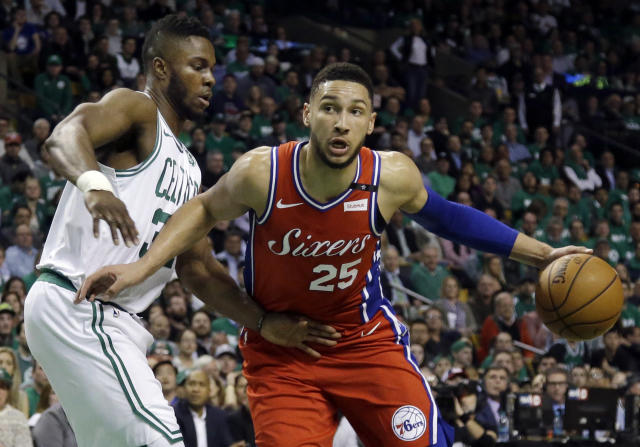 Donovan Mitchell was quick on the Twitter trigger Monday, expressing his pleasure when Celtics fans rained down taunts on Ben Simmons. (AP)