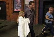 <p>Police escort members of the public from the Manchester Arena on May 23, 2017 in Manchester, England. There have been reports of explosions at Manchester Arena where Ariana Grande had performed this evening. Greater Manchester Police have have confirmed there are fatalities and warned people to stay away from the area. (Christopher Furlong/Getty Images) </p>