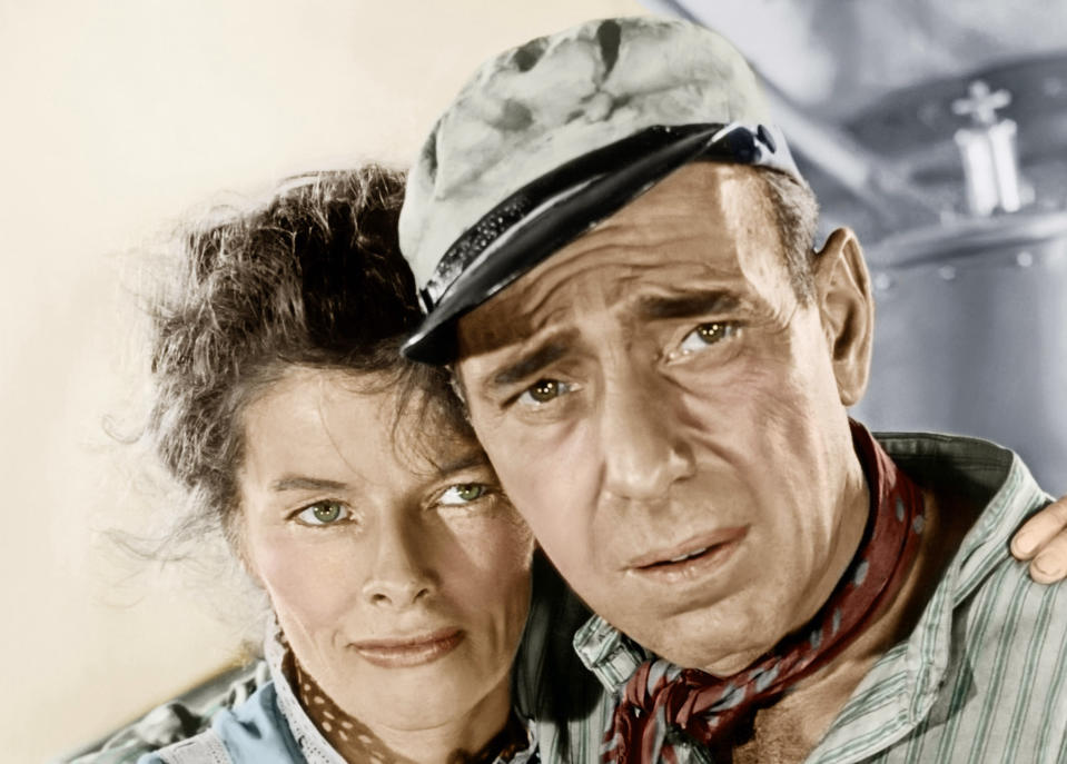 Katharine Hepburn and Humphrey Bogart star in John Huston's 1951 classic, The African Queen (Photo: Courtesy Everett Collection)