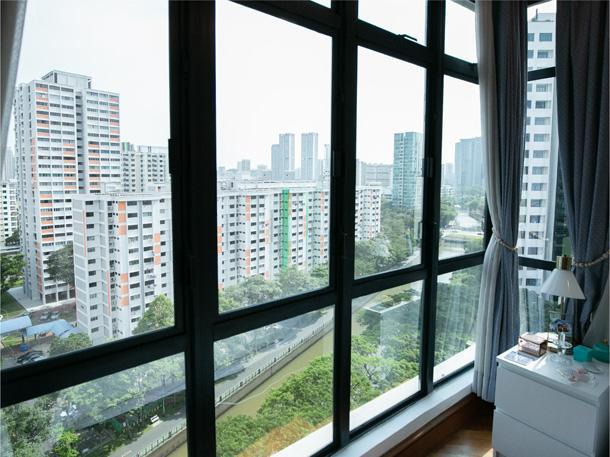 The view from the couple's home