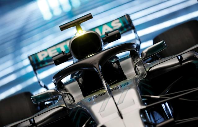 F1 Formula One - Mercedes 2018 Car Launch - Silverstone Circuit, Towcester, Britain - February 22, 2018 The new Mercedes' F1 car during the launch Action Images via Reuters/Matthew Childs