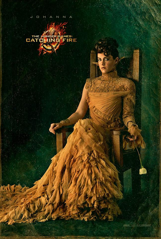 "Jena Malone as Johanna Mason in the final Capitol Portrait for ""The Hunger Games: Catching Fire"" - 2013"