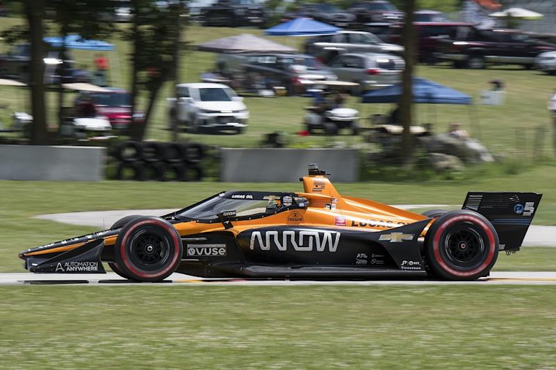 Mixed emotions for O'Ward in narrow miss of IndyCar win