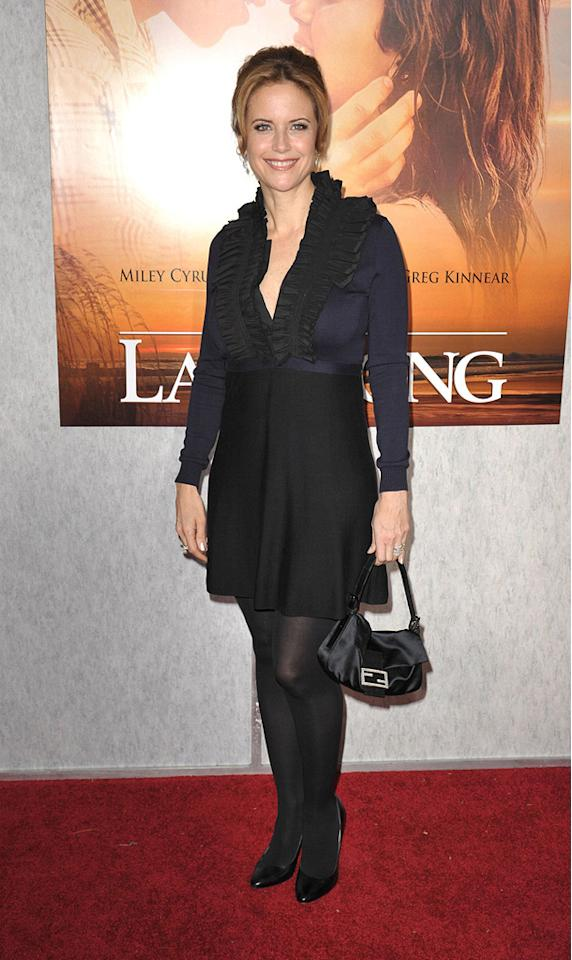 """<a href=""""http://movies.yahoo.com/movie/contributor/1800016652"""">Kelly Preston</a> at the Los Angeles premiere of <a href=""""http://movies.yahoo.com/movie/1810098775/info"""">The Last Song</a> - 03/25/2010"""