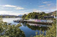 """<p>Colourful fishermen's cottages line the natural harbour at Portree on the Isle of Skye, which you'll fall in love with straight away for its old-world charm and calm, timeless atmosphere.</p><p>Grab fish and chips from The Harbour chippy and settle down for a spot of people watching, then spend the rest of your day exploring the hills and woodland behind you - or simply soaking up the gentle rhythms of this remote Scottish port. Heaven!</p><p><strong>Visit Portree during <a href=""""https://www.goodhousekeepingholidays.com/tours/scotland-edinburgh-glasgow-golden-horizon-tradewind-cruise"""" rel=""""nofollow noopener"""" target=""""_blank"""" data-ylk=""""slk:Good Housekeeping's terrific cruise"""" class=""""link rapid-noclick-resp"""">Good Housekeeping's terrific cruise</a> around Scotland</strong></p>"""
