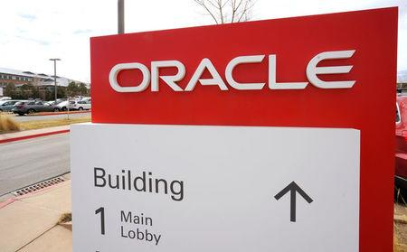 The sign outside Oracle's offices in Broomfield