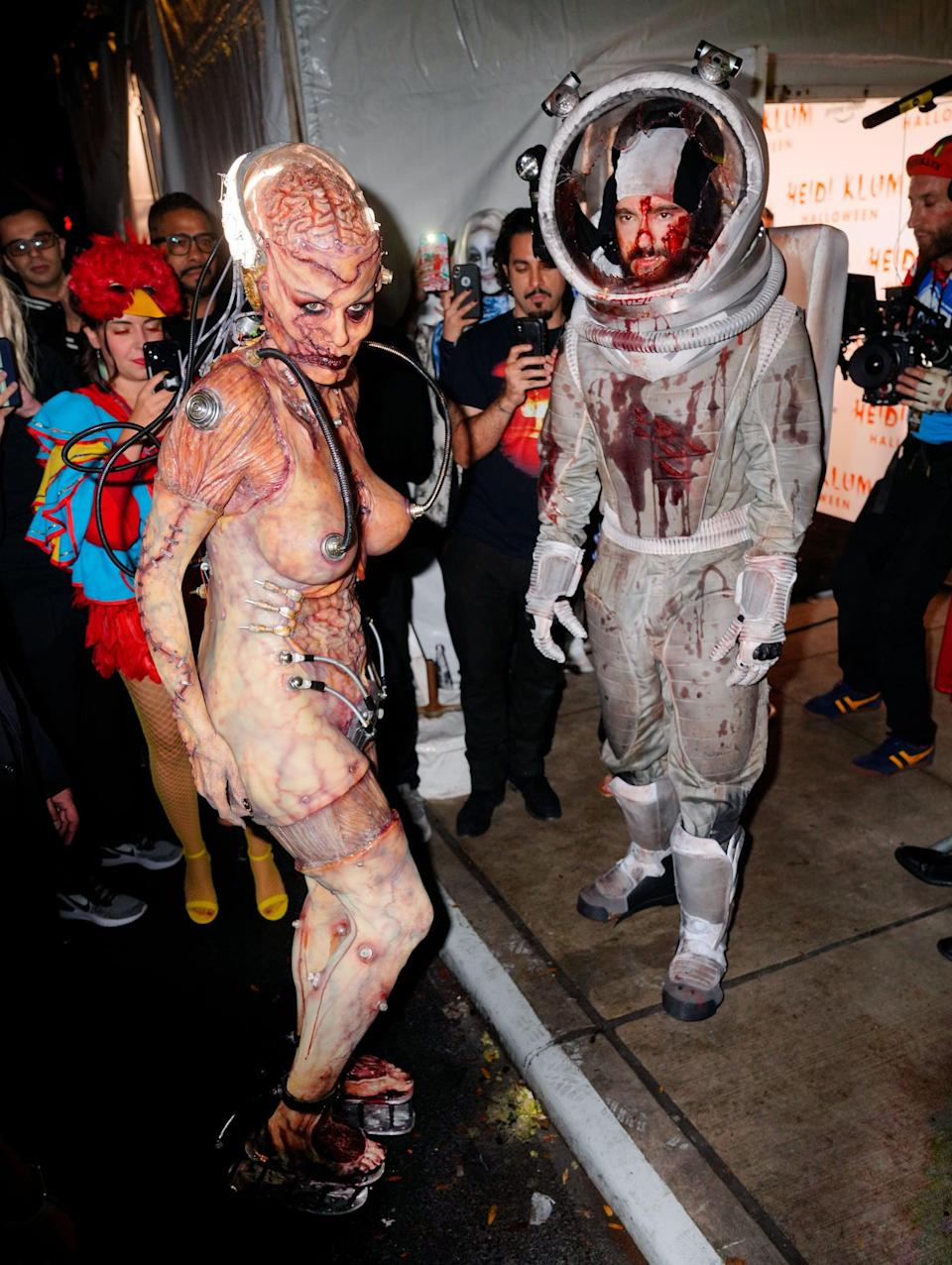<p>Heidi and Tom had out-of-this-world costumes in 2019, changing into an alien and an astronaut.</p>