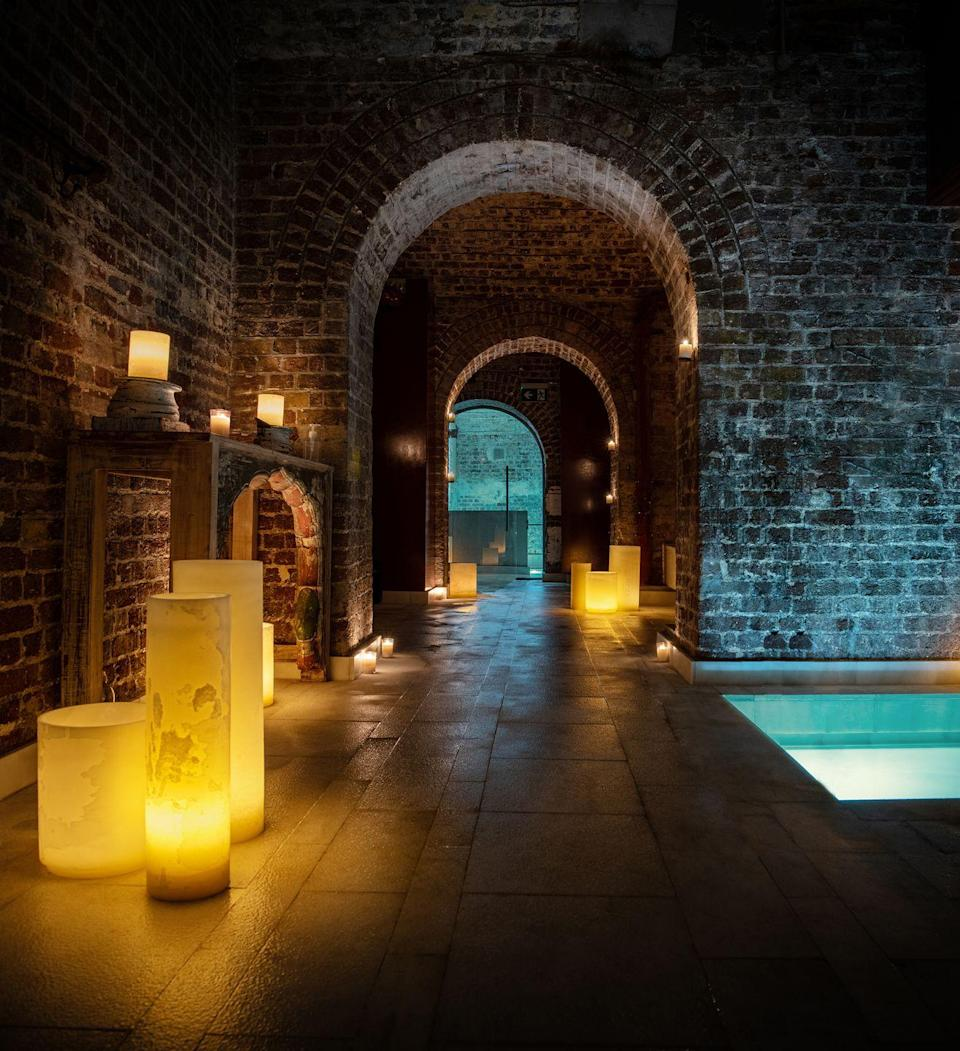 """<p>For a spa-cation in London that makes you feel a world away from the city, <a href=""""https://beaire.com/en/aire-ancient-baths-london"""" rel=""""nofollow noopener"""" target=""""_blank"""" data-ylk=""""slk:AIRE Ancient Baths"""" class=""""link rapid-noclick-resp"""">AIRE Ancient Baths</a> is an experience like nothing else in the capital. Tucked away behind the busy Strand, you'll feel your stresses melt away as you step inside this oasis hidden in the centre of town. The subterranean spa is inspired by the Roman bath, a complex of spaces to relax, indulge and socialise.</p><p>Perfect for celebrating an occasion with a partner or a friend, this luxurious haven has thermal pools for soaking, floating and soothing your muscles. This is a place where the concept of time is left at the door. The spa encourages you to work your way around the various baths at your own pace. There's a hot bath, warm bath, cold baths, salt bath, the Bath of Thousand Jets and and the aromatherapy steam room to discover before the bell rings for your massage. If you're feeling super-indulgent, the Wine Bath Experience is something the Romans would approve of.</p><p>The nearby <a href=""""https://go.redirectingat.com?id=127X1599956&url=https%3A%2F%2Fwww.booking.com%2Fhotel%2Fgb%2Fst-james-london.en-gb.html%3Faid%3D1922306%26label%3Dstaycation-uk&sref=https%3A%2F%2Fwww.goodhousekeeping.com%2Fuk%2Flifestyle%2Ftravel%2Fg34842793%2Fstaycation-uk%2F"""" rel=""""nofollow noopener"""" target=""""_blank"""" data-ylk=""""slk:Sofitel St James"""" class=""""link rapid-noclick-resp"""">Sofitel St James</a> is the perfect place to check into after a decadent few hours at the spa. You can end your day with fine dining at Wild Honey St James, where Chef Anthony Demetre delights with French-inspired dishes, before sipping a cocktail at the St James Bar.</p><p><a class=""""link rapid-noclick-resp"""" href=""""https://go.redirectingat.com?id=127X1599956&url=https%3A%2F%2Fwww.booking.com%2Fhotel%2Fgb%2Fst-james-london.en-gb.html%3Faid%3D1922306%26label%3Dstaycation-uk&sref="""