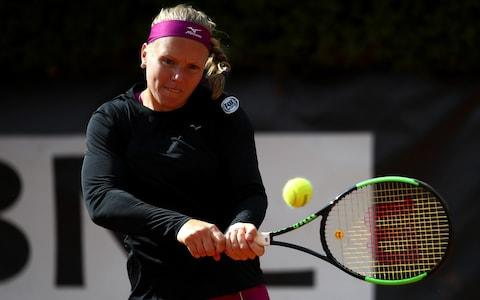 Kiki Bertens strikes a backhand - Credit: Getty Images