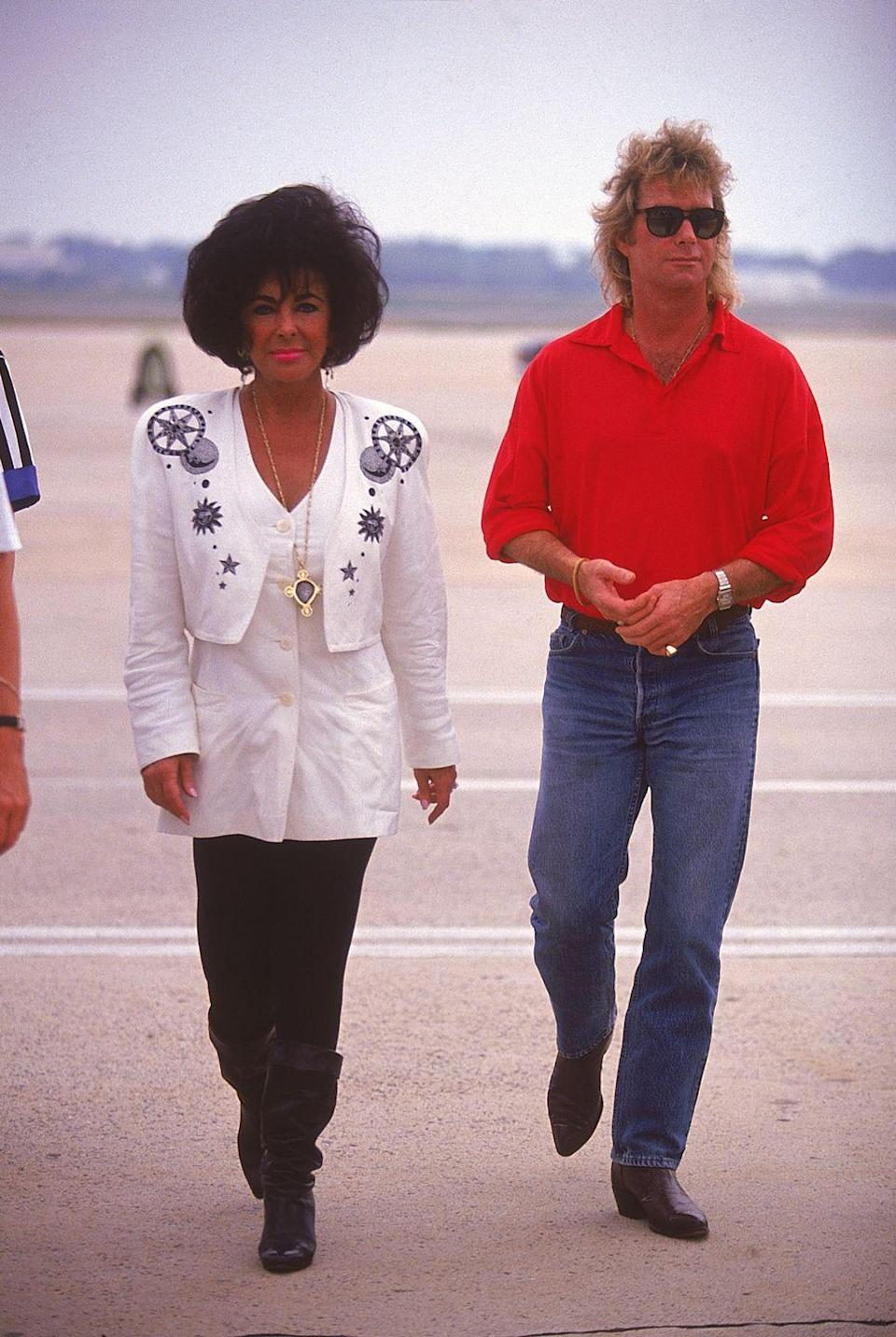 <p>In 1991, Elizabeth married construction worker Larry Fortensky, which was her eighth and final marriage. The actress and her seventh husband, met at the Betty Ford Center in 1988 and dated for three years before tying the knot on Michael Jackson's Neverland Ranch. They divorced in 1996 and Elizabeth never remarried.</p>