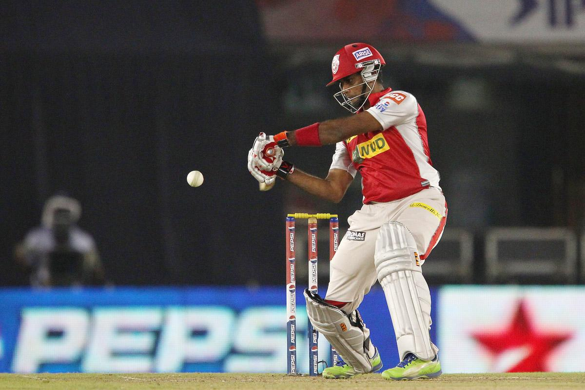 R Sathish during match 59 of of the Pepsi Indian Premier League between The Kings XI Punjab and the Sunrisers Hyderabad held at the PCA Stadium, Mohali, India  on the 11th May 2013.(BCCI)