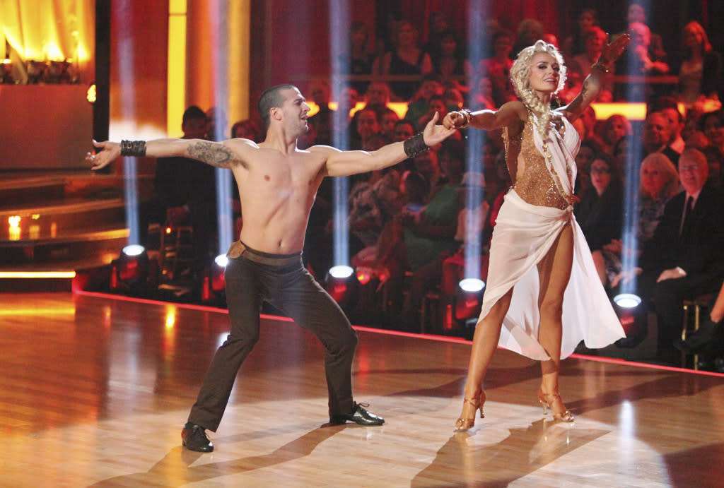 """Mark Ballas and Katherine Jenkins perform on """"Dancing with the Stars."""""""