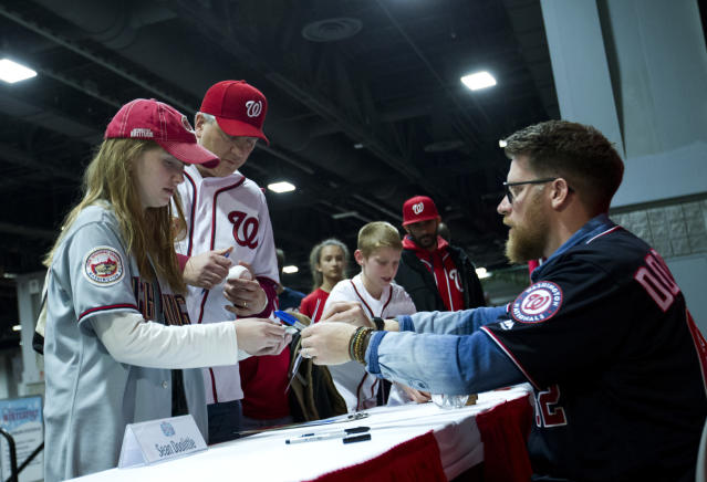 Washington Nationals pitcher Sean Doolittle and his wife Eireann Dolan are activists in the veteran and LGBT communities ( AP Photo)