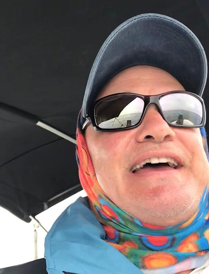 A minke selfie? Tom Zoller took this merry self-portrait during an encounter with a a minke whale off Provincetown on July 19.
