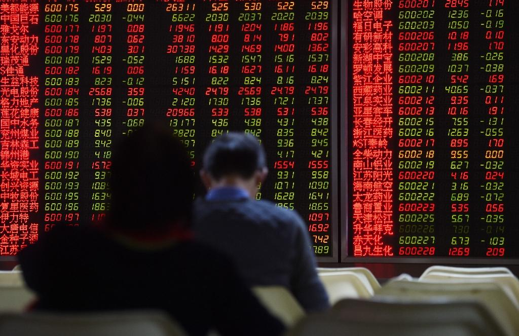 "China's stock market regulator denounced the ""crocodiles"" that prey on small investors, at a time when Beijing is trying to reassure retail investors following the crash of summer 2015 (AFP Photo/GREG BAKER)"