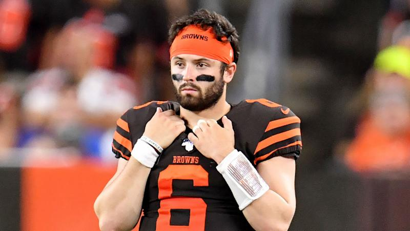 best sneakers b53de 20ec1 Baker Mayfield urges Cleveland Browns not to hit the panic ...