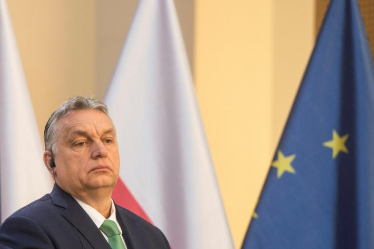 """The government of Hungary's Prime Minister Viktor Orban has """"dropped any pretence of respecting democratic institutions"""", Freedom House said"""