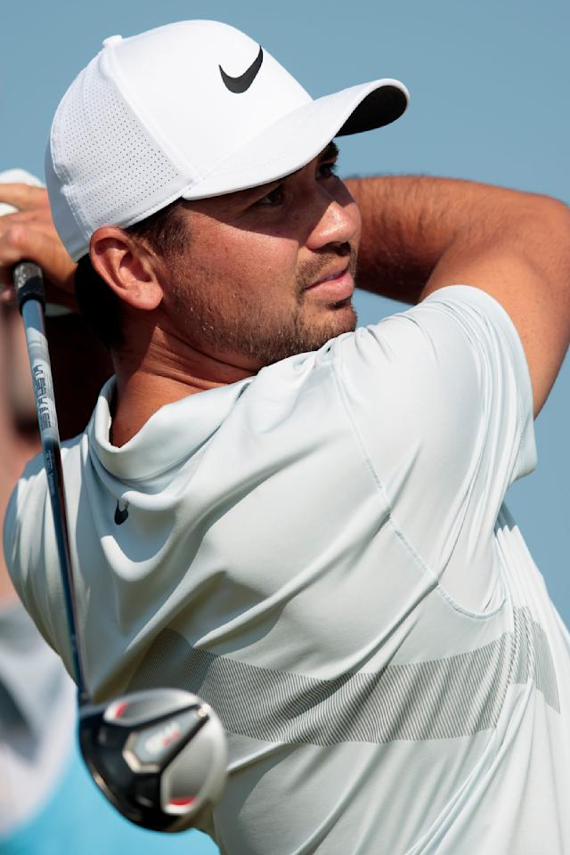 Australia's Jason Day plays a shot during a practice round at Royal Portrush Golf Club, Northern Ireland, Monday, July 15, 2019. The148th Open Golf Championship begins on July 18. (AP Photo/Jon Super)