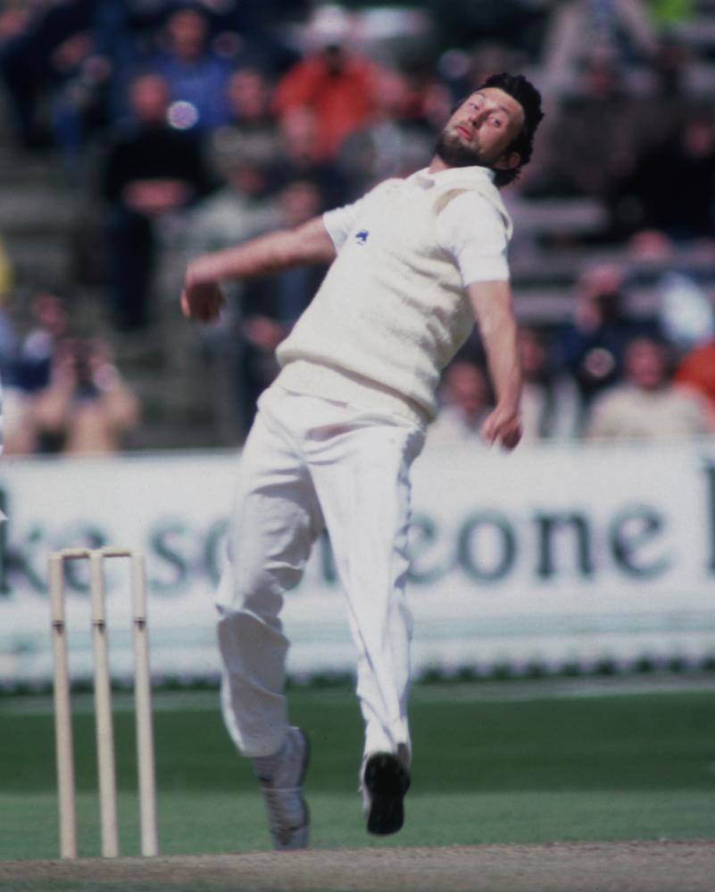 Mike Hendrick bowling for England against Australia during a one-day international at Edgbaston in June 1981.