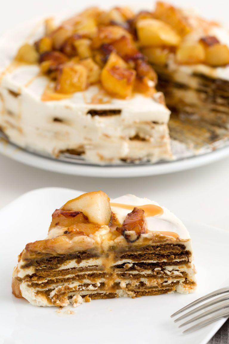 """<p>The only thing that makes an icebox cake more tempting? When it has a cheesecake filling.</p><p>Get the recipe from <a href=""""https://www.delish.com/cooking/recipe-ideas/recipes/a44604/caramel-apple-cheesecake-icebox-cake-recipe/"""" rel=""""nofollow noopener"""" target=""""_blank"""" data-ylk=""""slk:Delish"""" class=""""link rapid-noclick-resp"""">Delish</a>.</p>"""