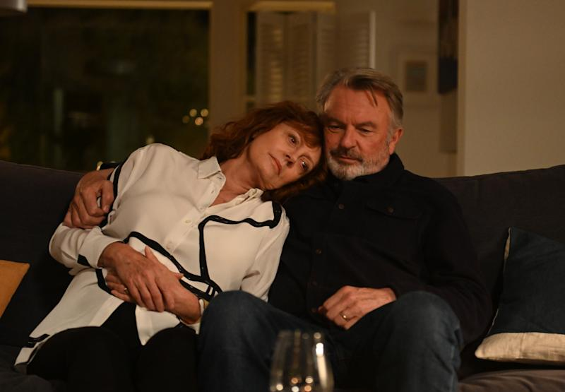 Susan Sarandon and Sam Neill in a still from Blackbird, out on Digital Download 21 September and DVD 28 September. (Lionsgate UK)