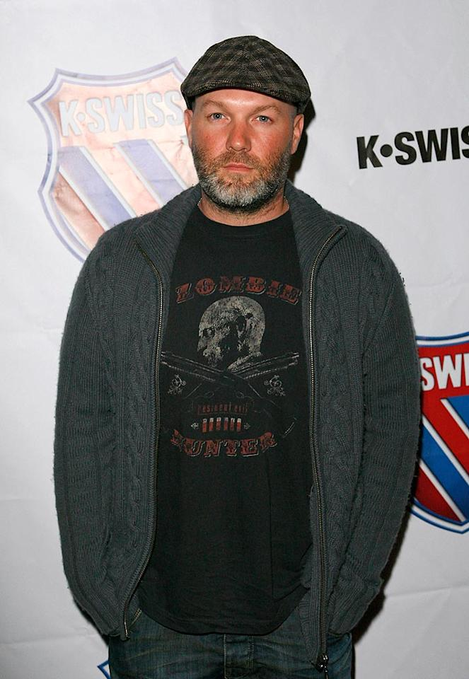 "We haven't seen Limp Bizkit lead singer Fred Durst in a while, but apparently he feels passionately about his K-Swiss! Jean Baptiste Lacroix/<a href=""http://www.wireimage.com"" target=""new"">WireImage.com</a> - March 13, 2008"