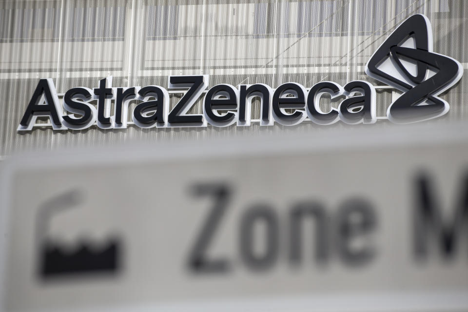 Illustration picture shows  the Belgian headquarters of British-Swedish pharmaceutical giant AstraZeneca, in Dilbeek, Saturday 23 January 2021. BELGA PHOTO NICOLAS MAETERLINCK (Photo by NICOLAS MAETERLINCK/BELGA MAG/AFP via Getty Images)