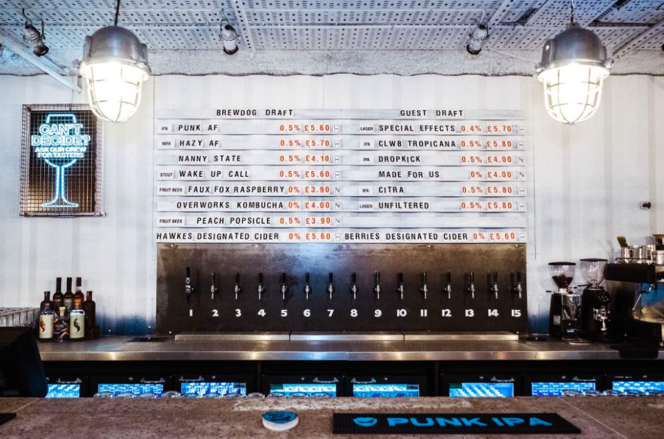 An entirely alcohol-free bar has opened in London [Photo: BrewDog]