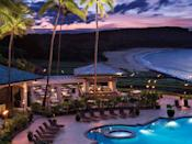 """<p>Built on the cliffs above Lanai's pristine Manele Bay, the <a href=""""https://www.cntraveler.com/hotels/united-states/lanai-city/four-seasons-lana-i-at-manele-bay?mbid=synd_yahoo_rss"""" rel=""""nofollow noopener"""" target=""""_blank"""" data-ylk=""""slk:Four Seasons Lanai"""" class=""""link rapid-noclick-resp"""">Four Seasons Lanai</a> is a luxurious family-friendly option. As is true for any good trip to Hawaii, this resort is all about the activities. In addition to standard beach and pool offerings, the resort provides access to beautiful, protected coral reefs perfect for snorkeling (keep an eye out for marine life, like visiting dolphins), and kids can enjoy tennis clinics, horseback riding, and even cooking classes designed with their age group in mind. Or, on the rare cloudy day in Lanai, activities like hula dancing, lei making, and ukulele lessons will keep younger ones engaged, while also teaching them about Hawaiian culture. Bruno, the resort's friendly """"bird man,"""" will happily introduce kids to his three in-house rescue birds, including a very chatty, sulphur-crested Australian cockatoo. All to say, there's plenty to keep the kids occupied while you escape to the spa or the on-site Nobu restaurant (don't miss the signature miso black cod at the latter).</p> <p><strong>Book now:</strong> From $1,390 per night, <a href=""""https://cna.st/affiliate-link/8GHpbfKbJZ8naC5Nw7vw5ymRVBKFi9F9hBoJrvcfZUmQo68voBc1Crxtr5Qb6NQ6LWaukpjoiQMBBqwVh3Tb6Ga1DASKgoovtvgSSzuHL35Mbc5XF5kjdwdw9WvpD95Wrq5EXX3y2aUrEMQBbZ1vqUiNMU89eoDcCB89?cid=55099082481a91bb7819ff37"""" rel=""""nofollow noopener"""" target=""""_blank"""" data-ylk=""""slk:expedia.com"""" class=""""link rapid-noclick-resp"""">expedia.com</a></p>"""