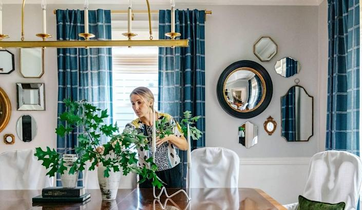 Michelle Lane, the owner and principal designer at Modern Cottage in Charlotte, said clients are looking to maximize outdoor space this fall. She also recommends using foliage clippings indoors to expand the feeling of autumn.