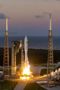 A United Launch Alliance (ULA) Atlas V rocket carrying the NROL-101 mission for the National Reconnaissance Office lifts off from Space Launch Complex-41 at 5:32 p.m. EST on Nov. 13, 2020. Photo Credit: United Launch Alliance