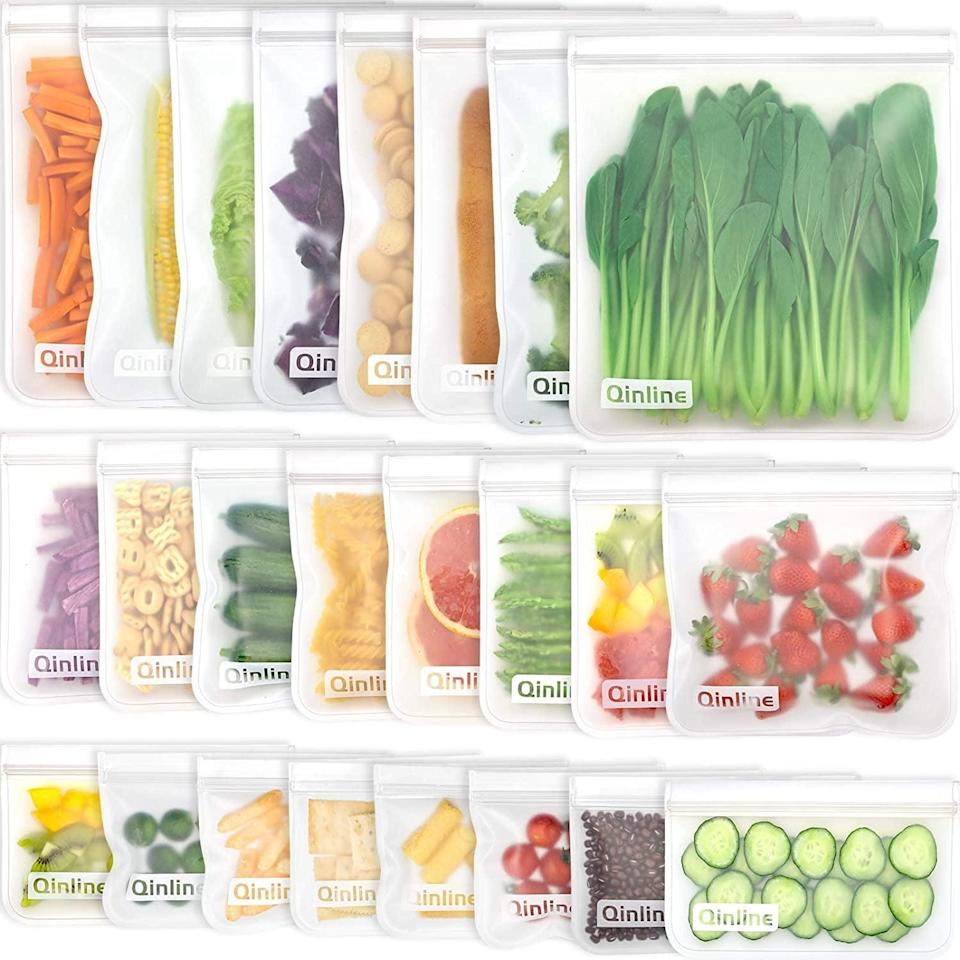 <p>These <span>Reusable Food Storage Bags </span> ($21) are BPA-free and leakproof. You get eight gallon bags, eight sandwich bags, and eight snack bags.</p>