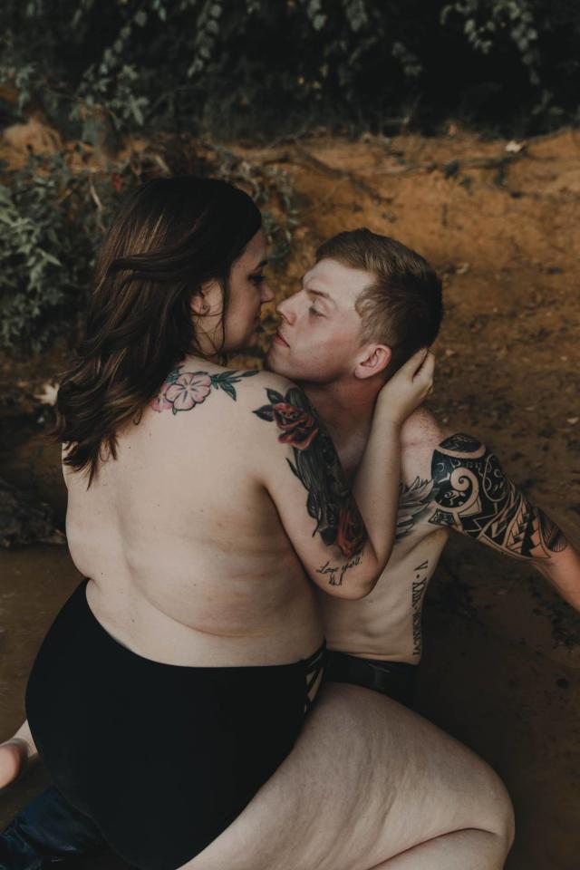 <p>Overton, Texas couple Stephanie and Arryn stripped down for a steamy lakeside boudoir photoshoot last week. </p>