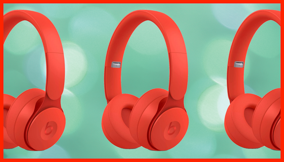 Save 43 percent on these Beats Solo Pro Wireless Noise Cancelling On-Ear Headphones. (Photo: Amazon)