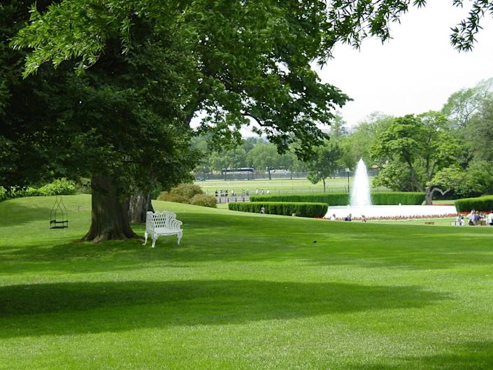 South Lawn of the White House.