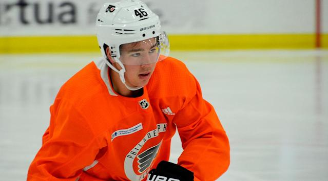 As he makes his climb to the NHL, Flyers prospect Bobby Brink won't forget one long day. By Jordan Hall