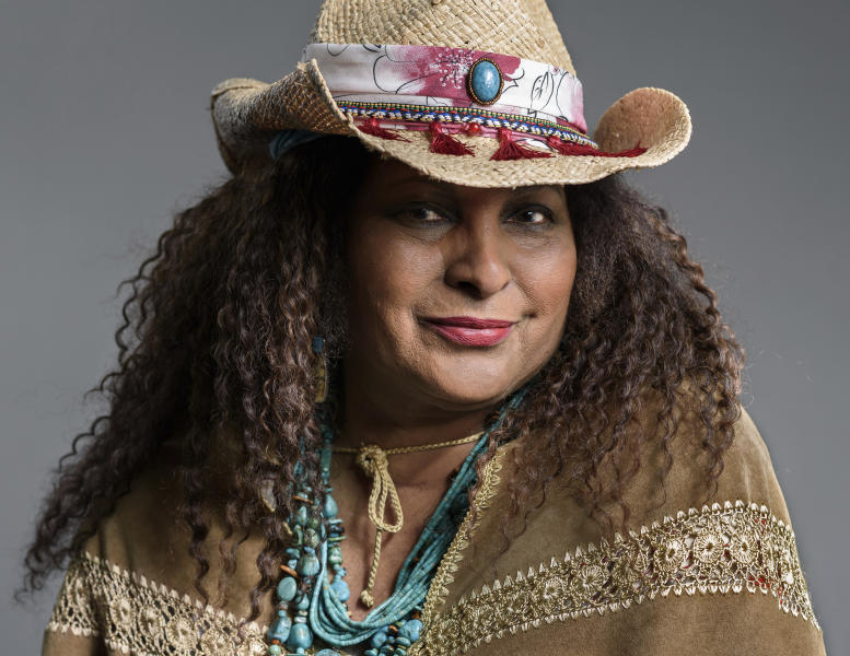 "This May 21, 2019 photo shows actress Pam Grier posing in New York to promote her ABC sitcom ""Bless This Mess.""  (Photo by Christopher Smith/Invision/AP)"