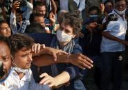 Protest after the death of a rape victim, in Noida
