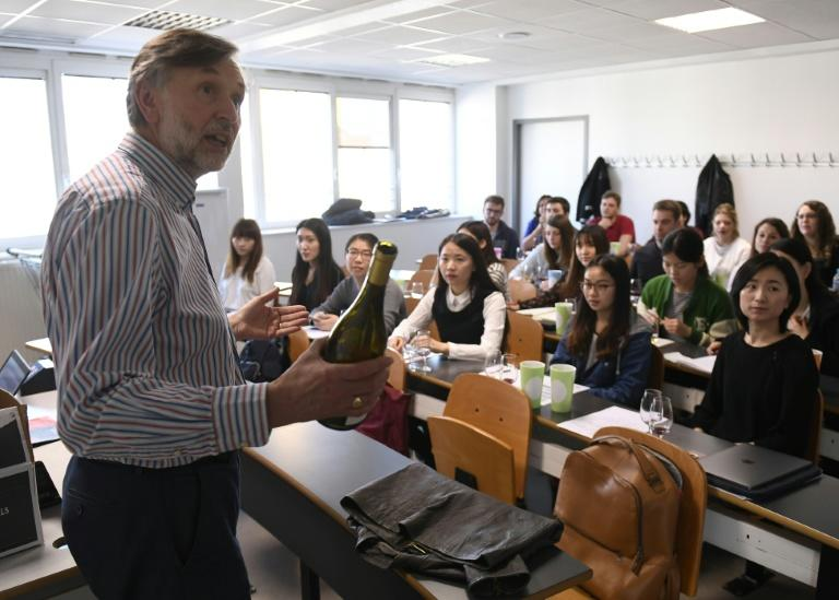 British-Australian teacher Steve Charters teaches a course on wine marketing at the Dijon School of Wine