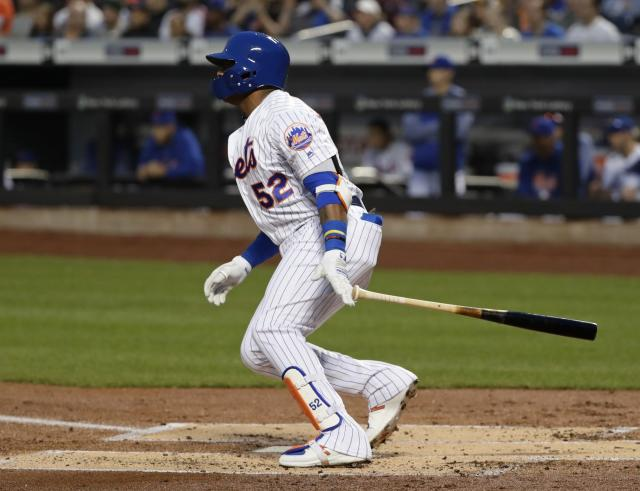 New York Mets slugger Yoenis Cespedes usually isn't one to rack up strikeouts, but he's on pace for 40% rate in 2018. (AP Photo/Frank Franklin II)