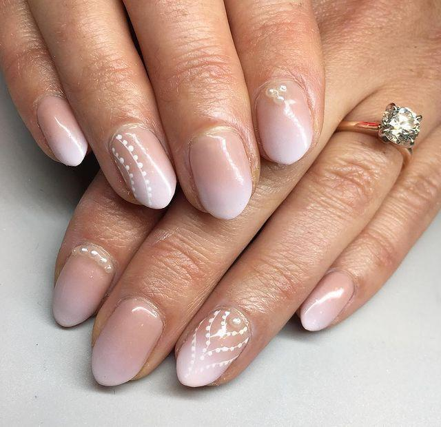 """<p>Pearlescent polishes are nothing new, so why not take things up a notch with stick on pearls? Stick one on each nail or stack them up on an accent.</p><p><a href=""""https://www.instagram.com/p/Bs0oqn3FCxo/"""" rel=""""nofollow noopener"""" target=""""_blank"""" data-ylk=""""slk:See the original post on Instagram"""" class=""""link rapid-noclick-resp"""">See the original post on Instagram</a></p>"""