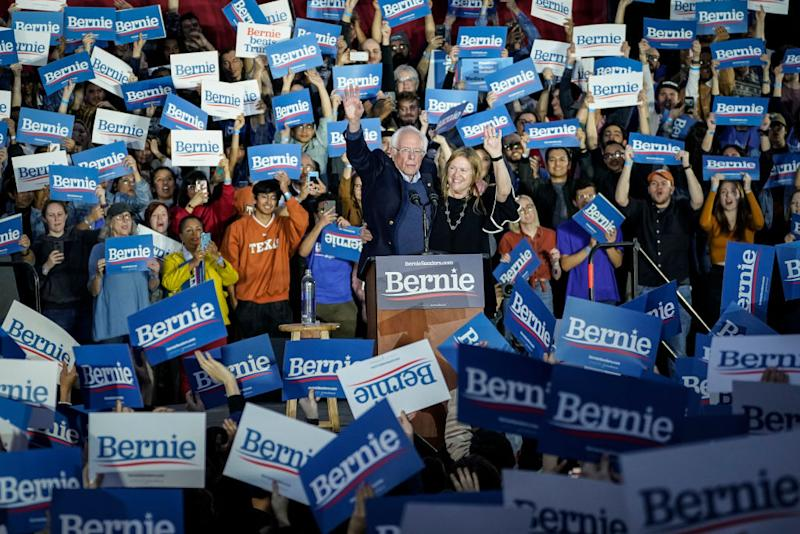 With early voting underway in Texas, Sanders is holding four rallies in the delegate-rich state this weekend before travelling on to South Carolina. Source: Getty
