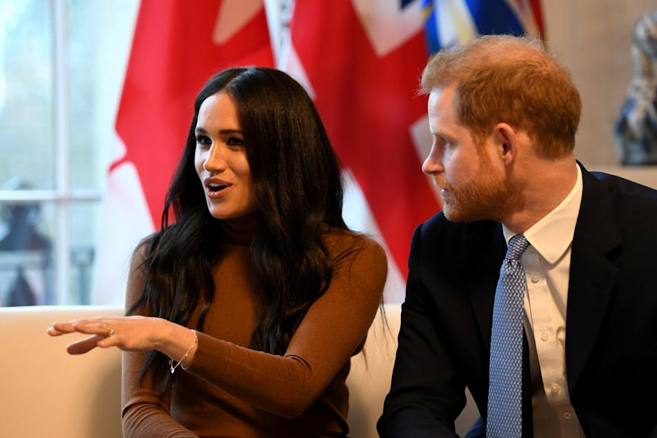 Britain's Prince Harry and his wife Meghan, Duchess of Sussex visit Canada House in London, Britain  January 7, 2020. Daniel Leal-Olivas/Pool via REUTERS