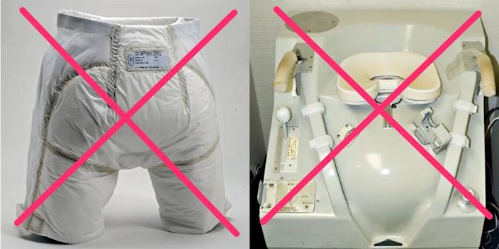 NASA doesn't want more bulky space diapers or big shuttle toilets — so the agency is asking for some help designing its new toilet for astronauts going to the moon.